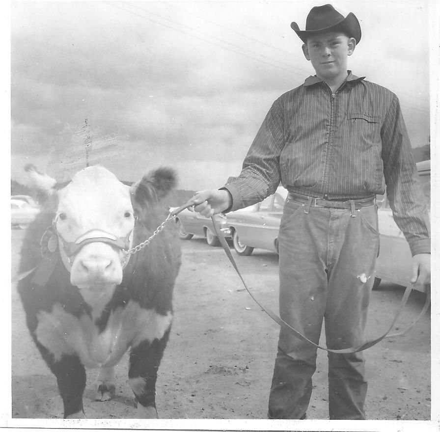 Mike Francis and champion calf
