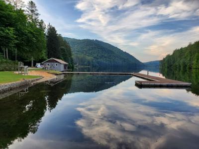 Lake Logan boat house