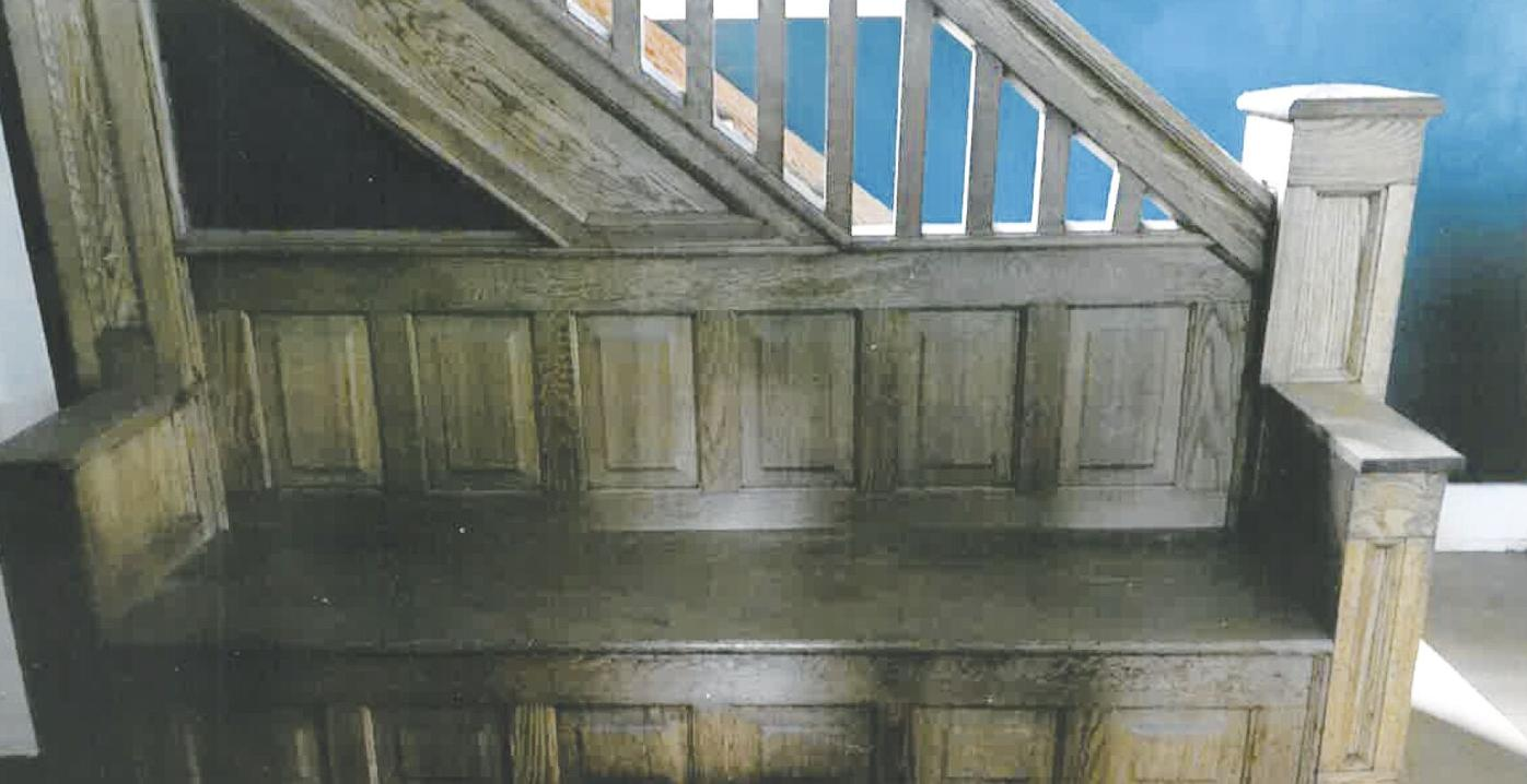 historic stair and bench