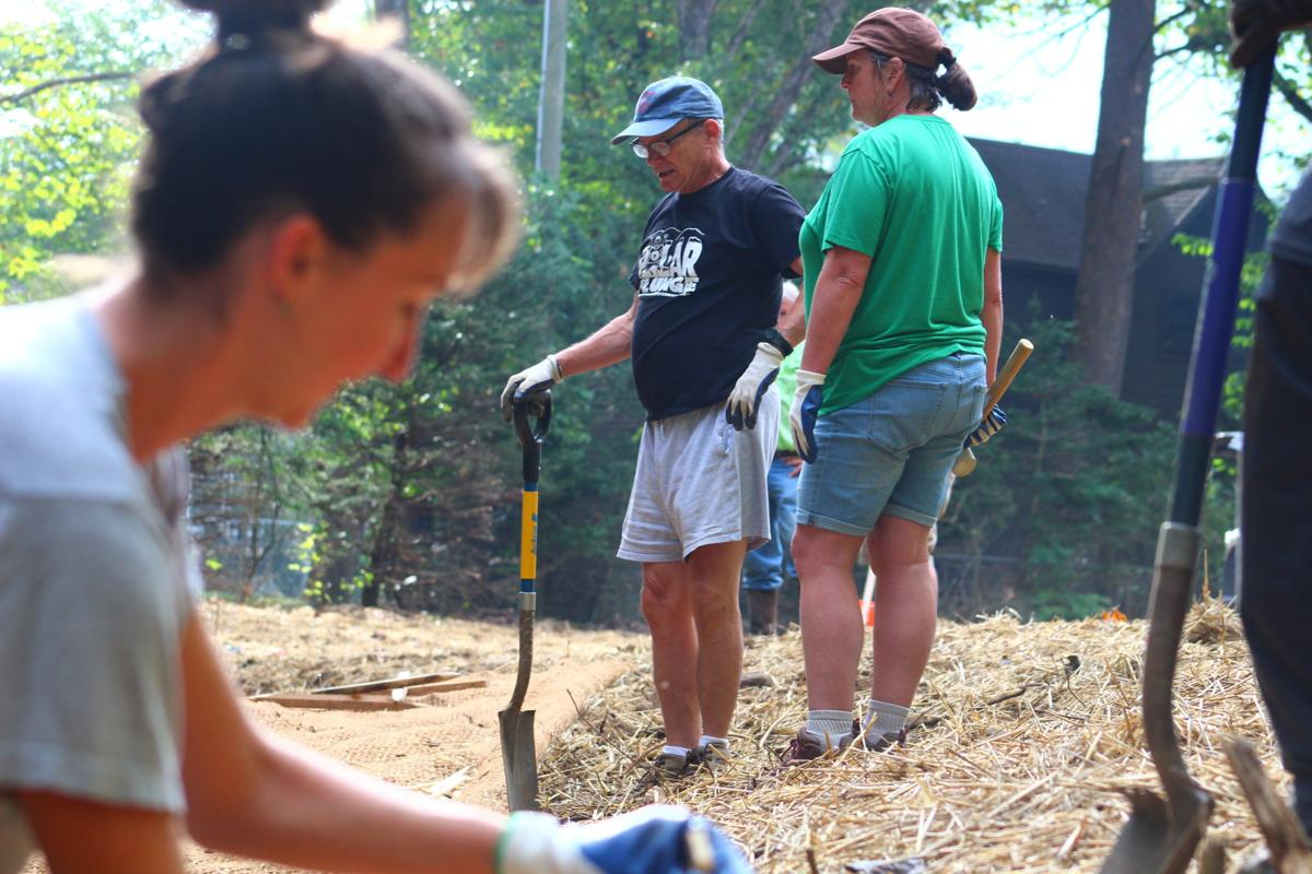 Volunteers at the stream restoration site in Maggie Valley