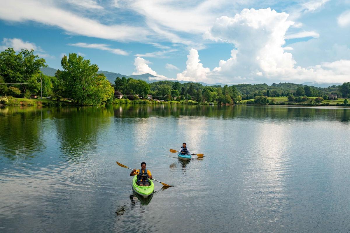 Kayaks at Lake Junaluska