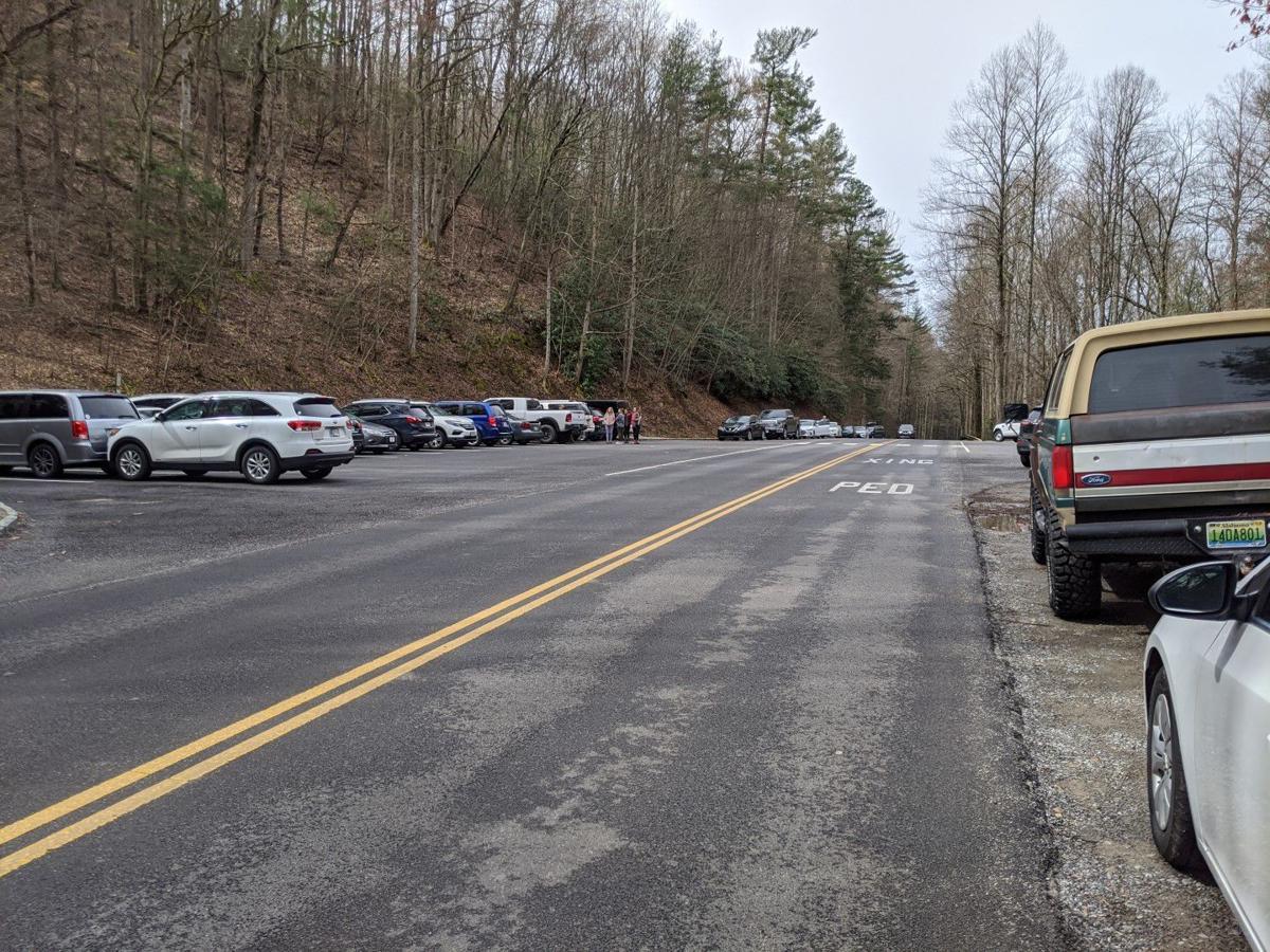 Laurel Falls Trail Parking Area on 3-22-20 (1).jpg