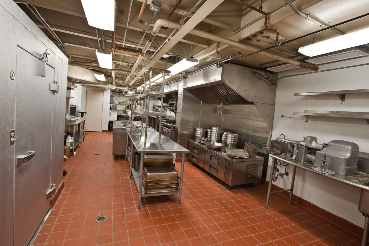A large commercial kitchen in a restaurant