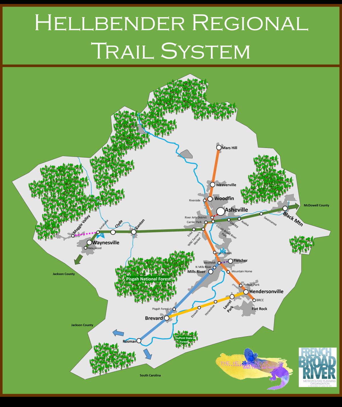Hellbender Regional Trail map