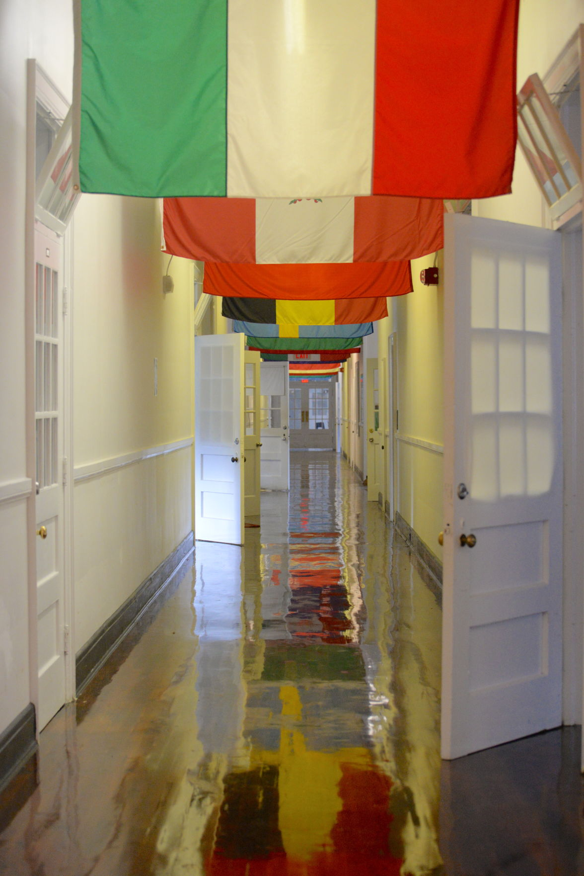 folkmoot hallway with flags 2.JPG