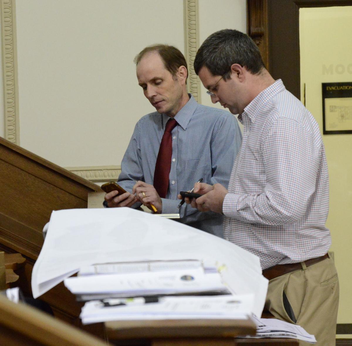 plott creek apartment site plan hearing william ratchford tom jones.JPG