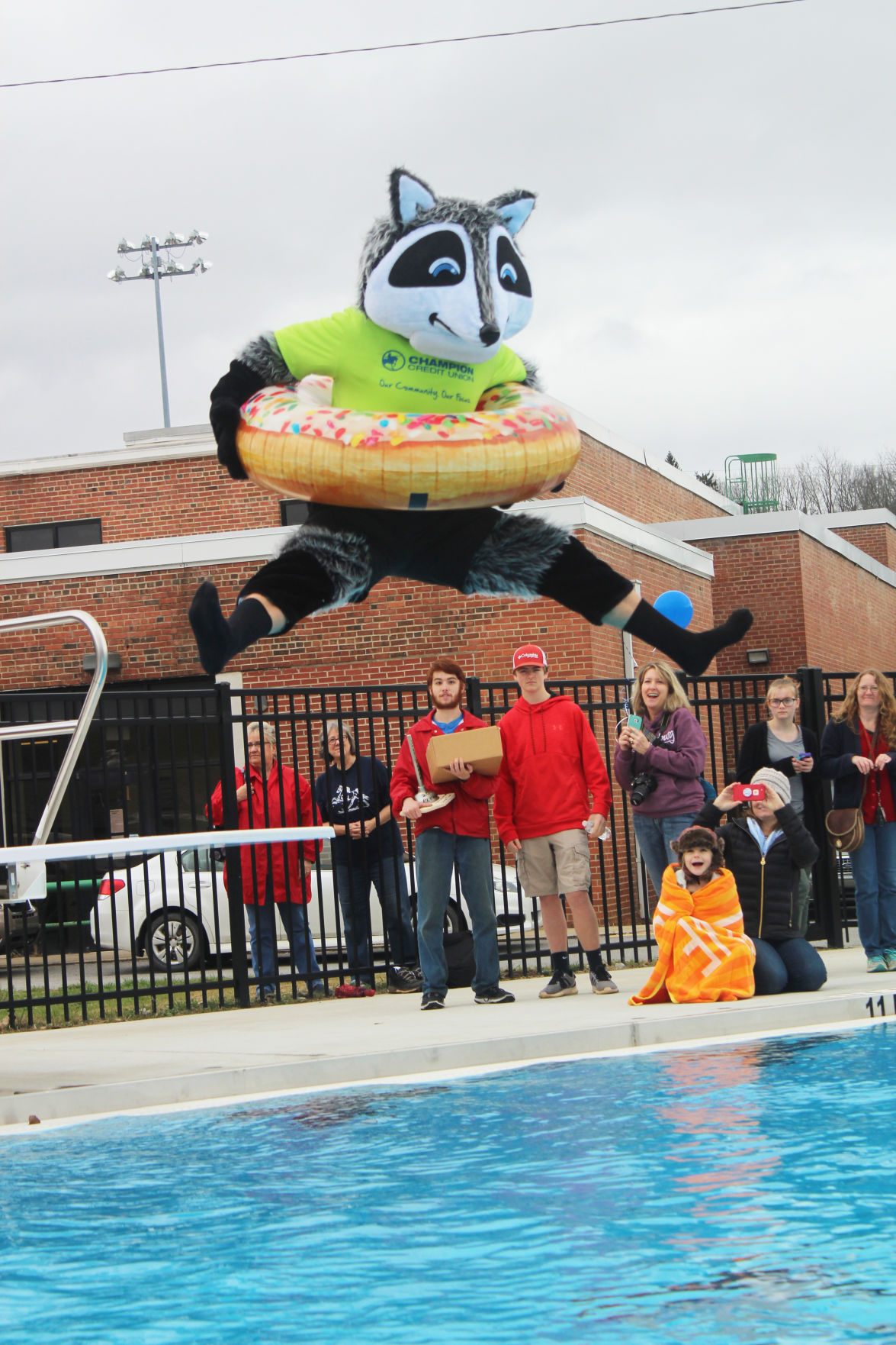 Approximately 150 People Christened The Cantons New Pool By Participating In Polar Plunge