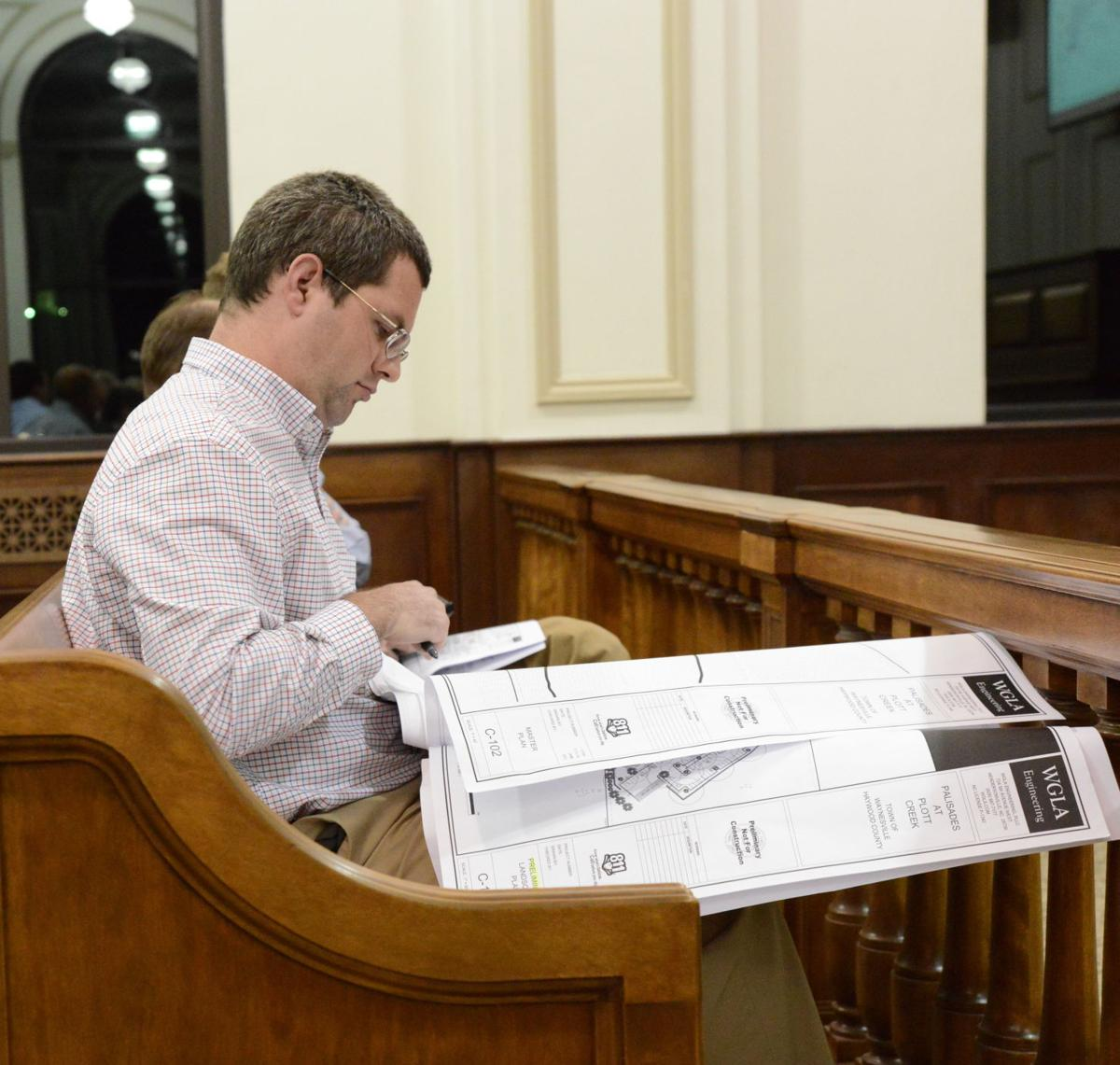 plott creek apartment site plan hearing william ratchford.JPG
