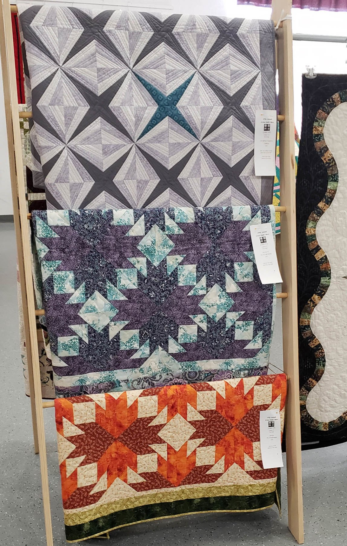 Quilts on display Cruso Quilt Show