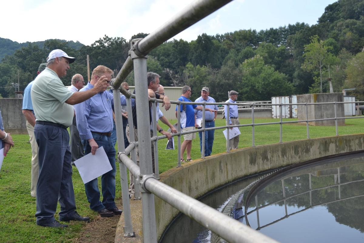 Town board, officials visit sewer plant