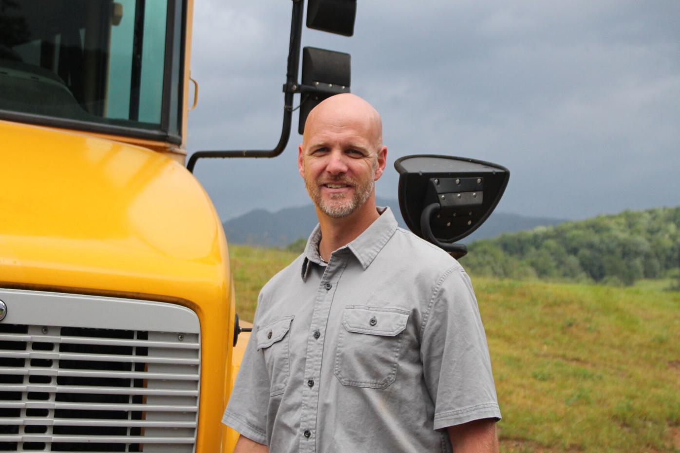 New Haywood County Schools' transportation director Stephen Sharpe