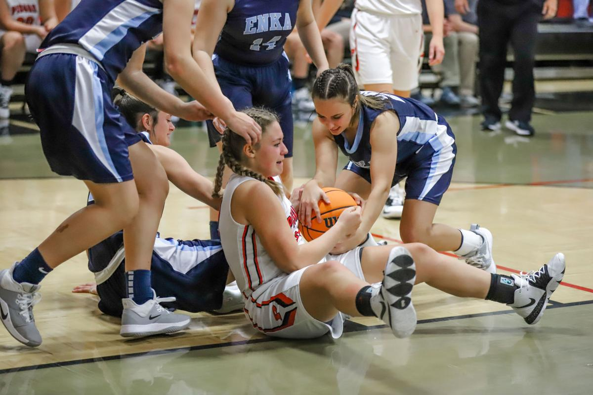 Chloe Parris battles for possession of the ball. -97.jpg