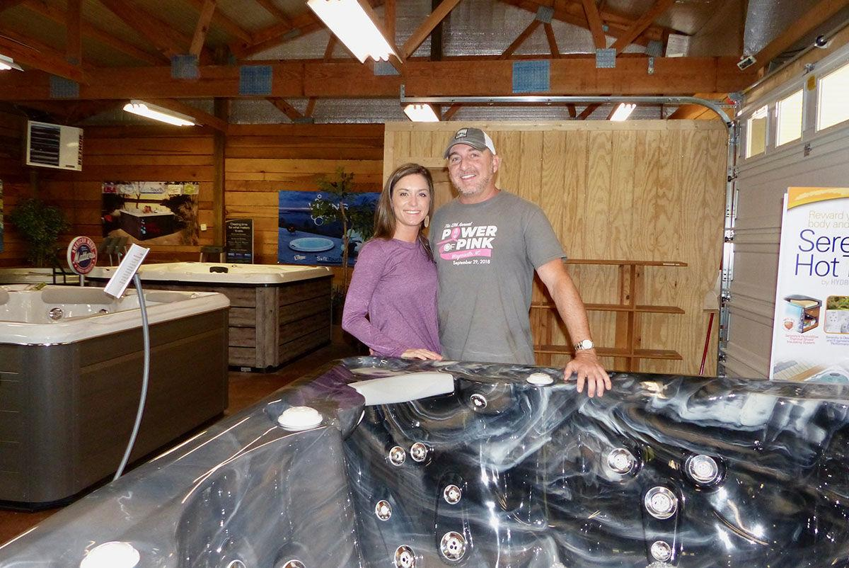 The Hot Tub Store and More owners Maggie & Travis Bramlett