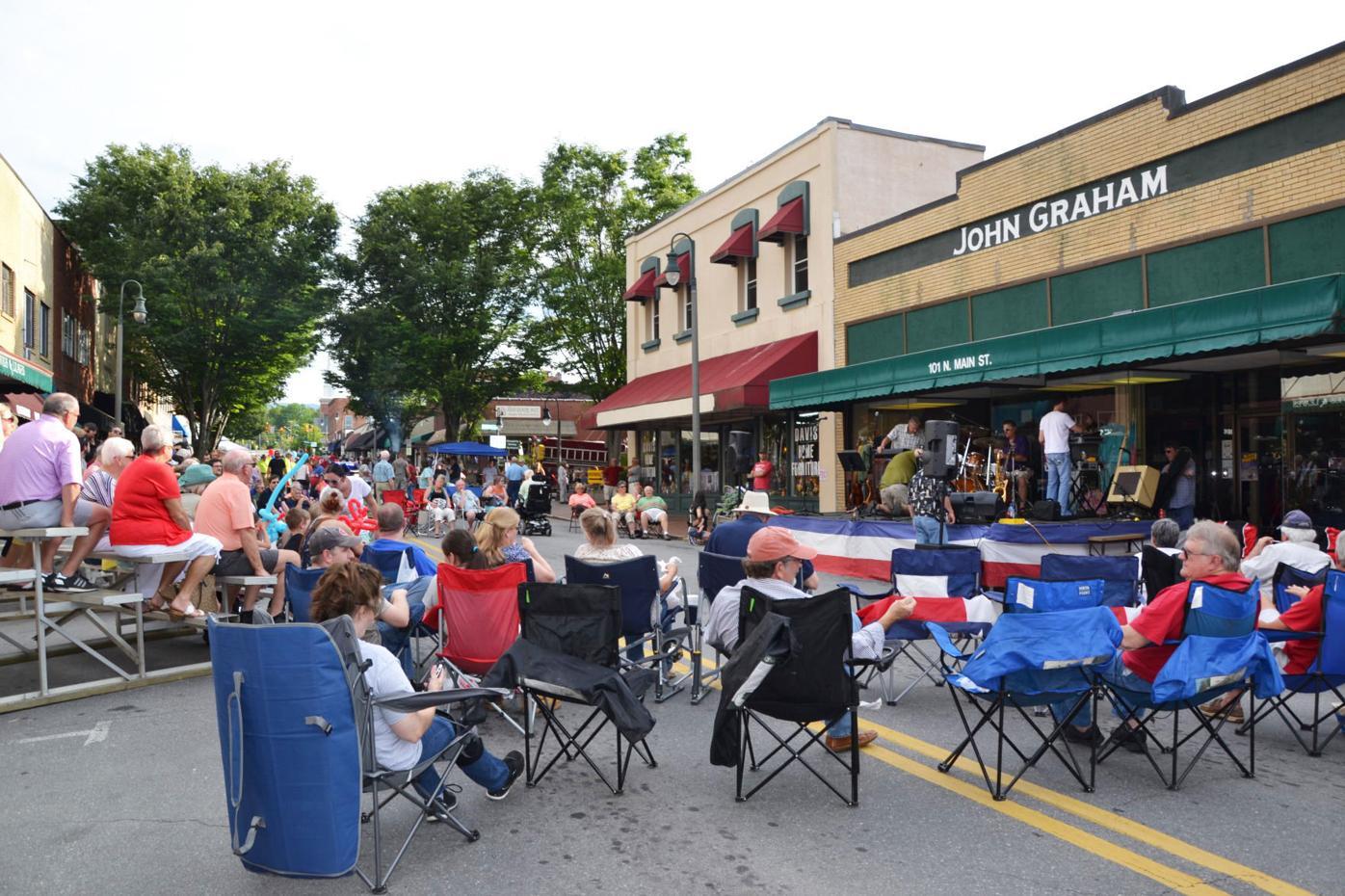 Waynesville Block Party on Main Street