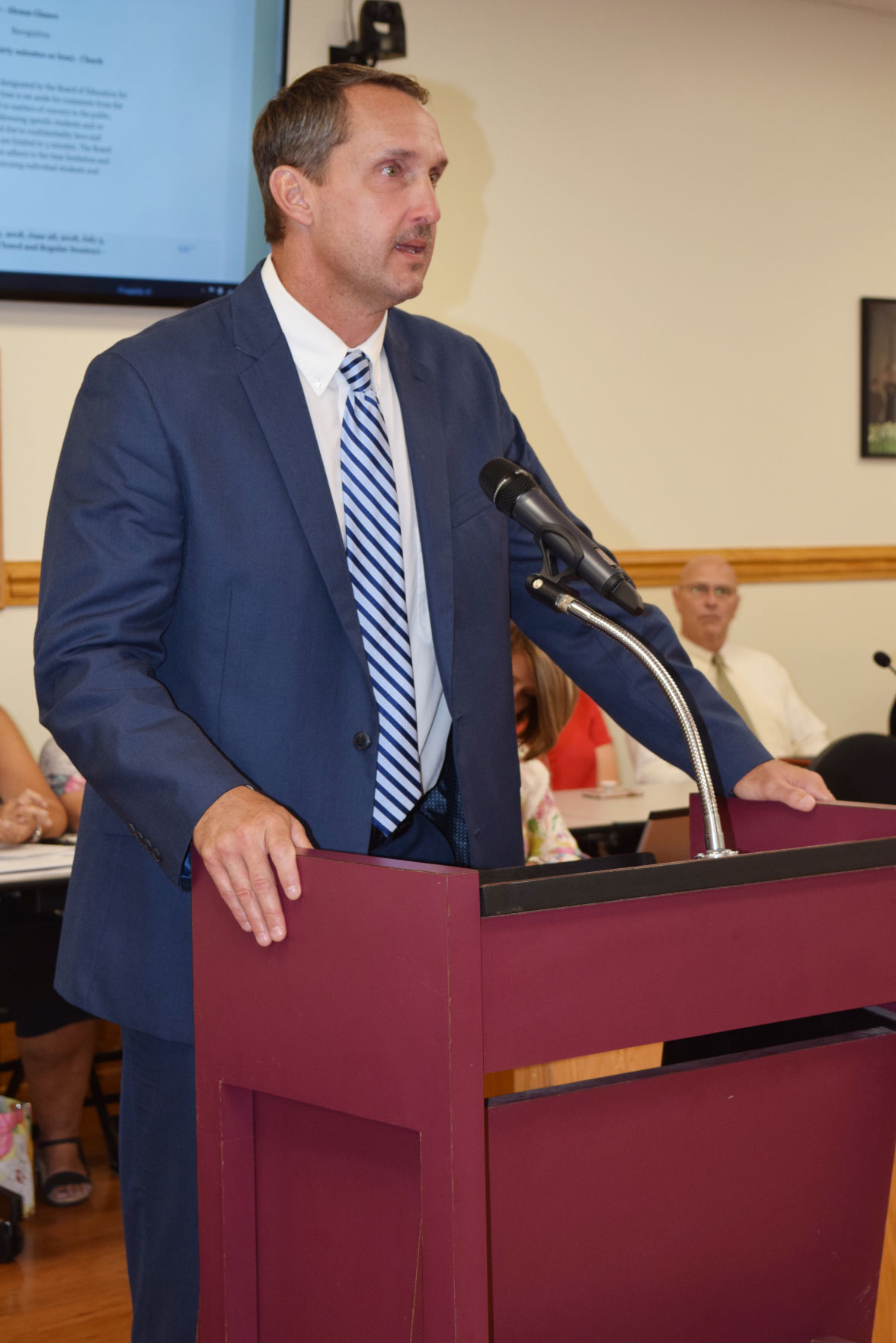 Dr. Trevor Putnam, associate superintendent of support services