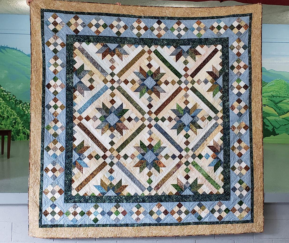 Pigeon River Star donation quilt Cruso 2019