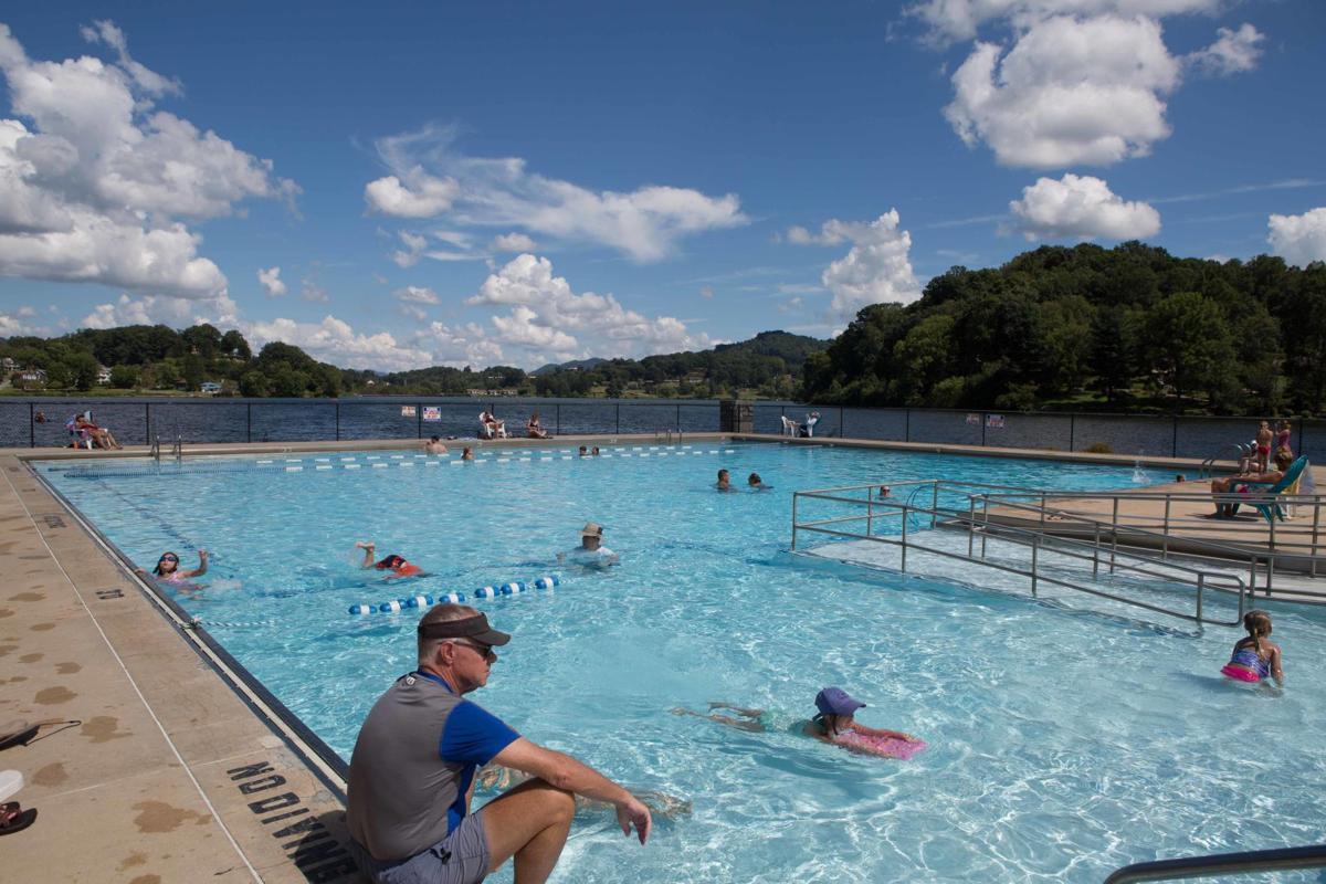 Lake Junaluska's outdoor swimming pool
