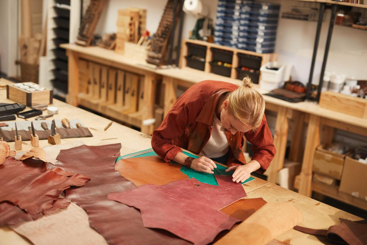 Artisan In Leather Craft Workshop
