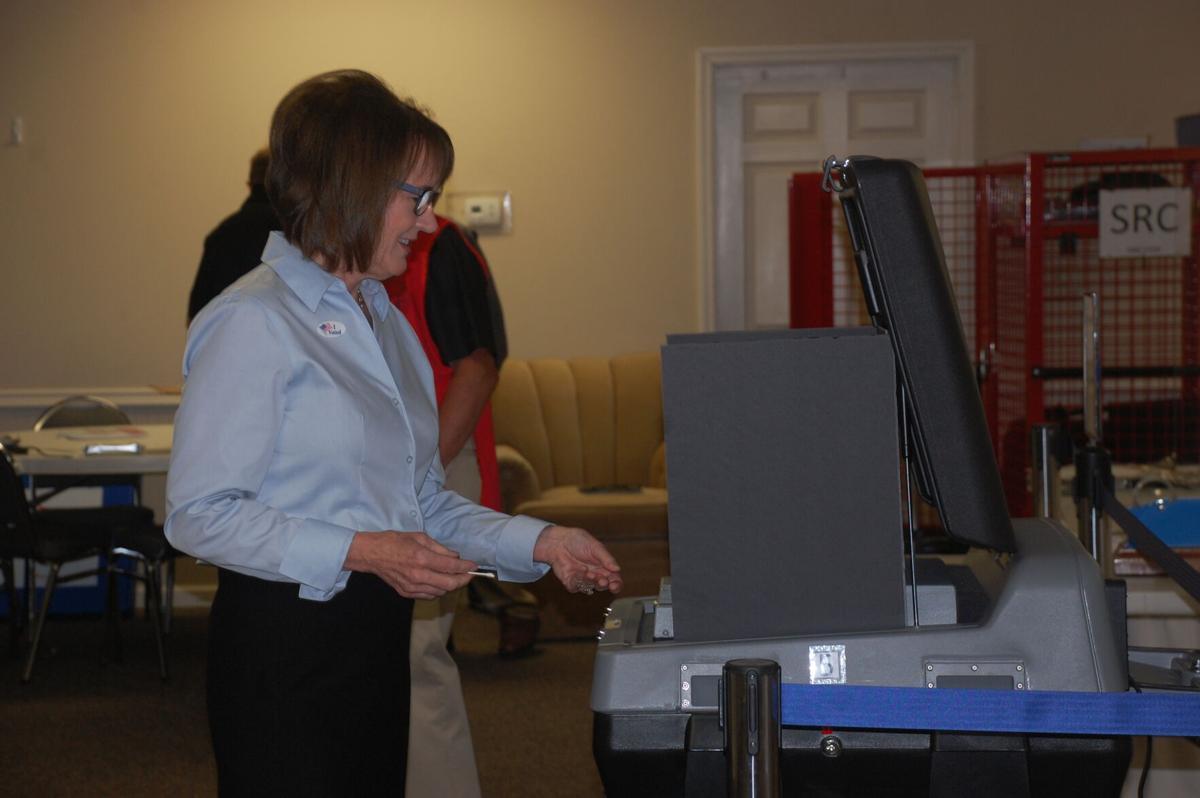 Lynda Bennett voting