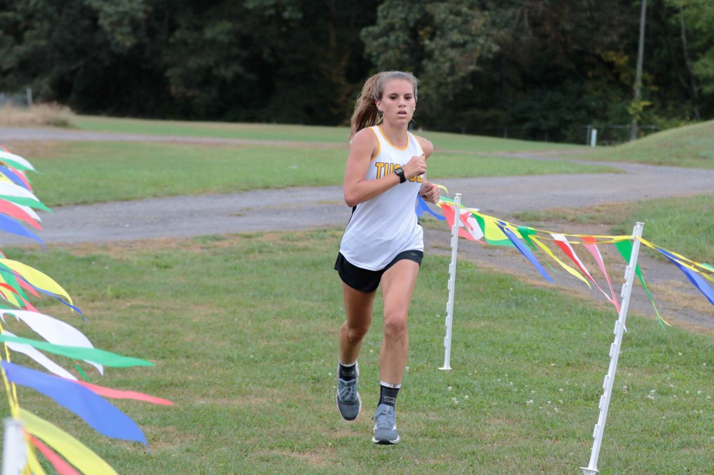 Tuscola crossing the finish line first.JPG