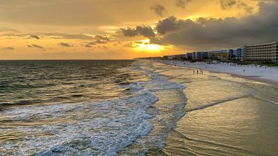 Joseph Thomas beach sunset - God sees pain