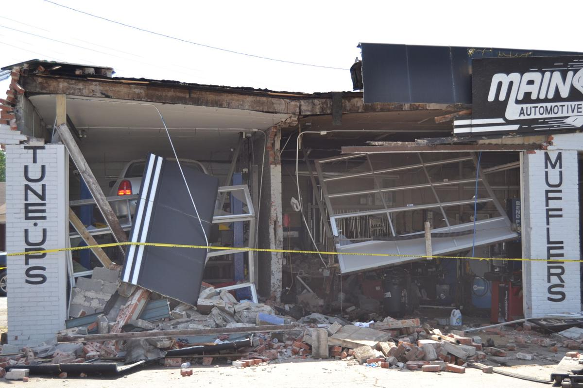 Car Slams Into Building Causes Significant Damage News How To Build Whistle Responder