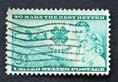 4-H Club Stamp