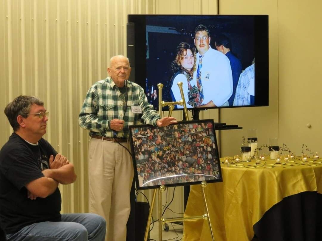 Charles Starnes at a class reunion
