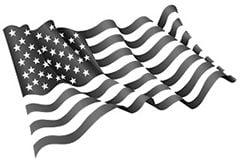 Obit flag B&W