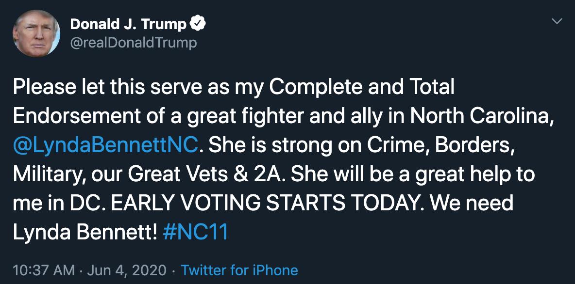 Trump Bennett tweet