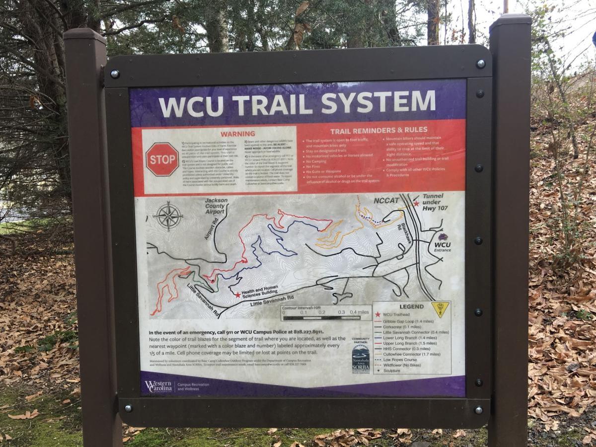 WCU Trail system map
