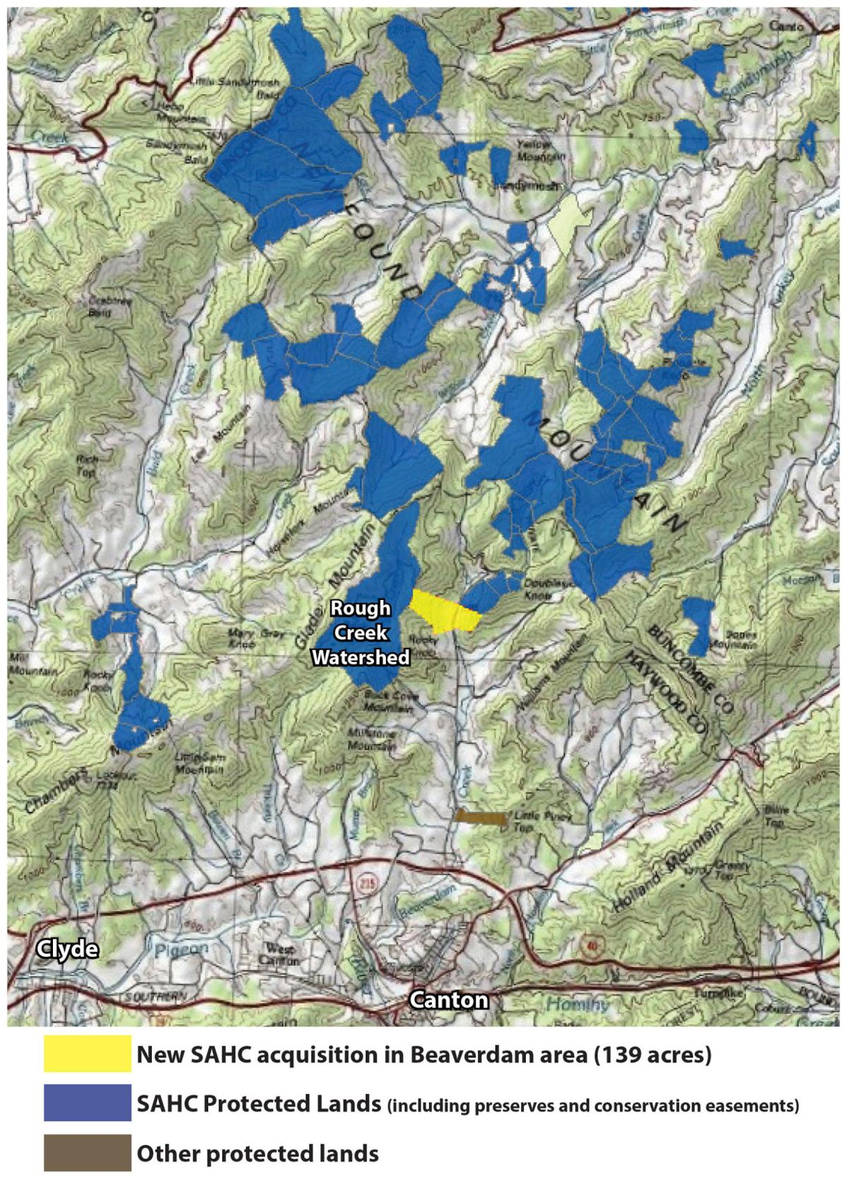 Protected land north of Canton