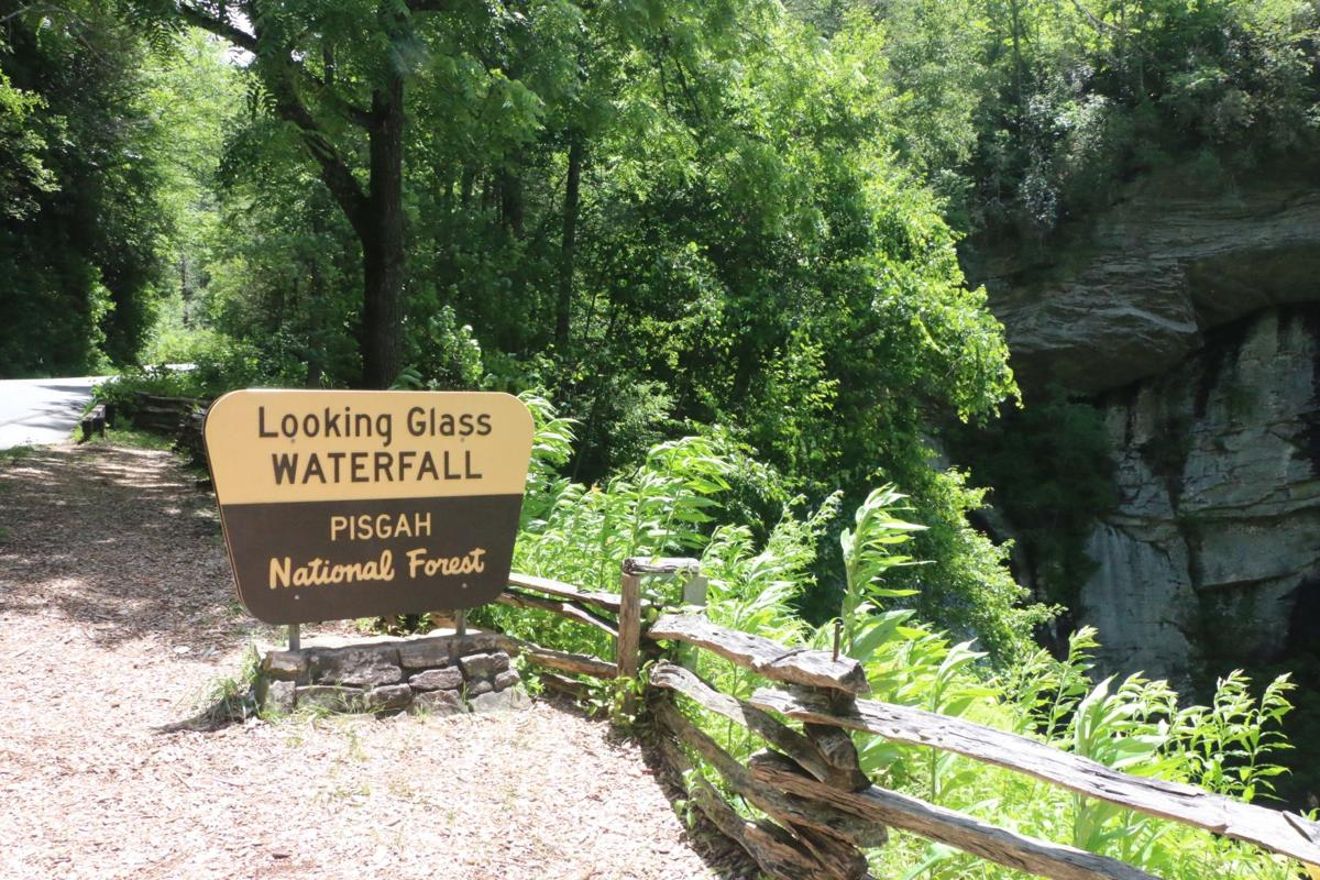 Looking Glass Fall sign