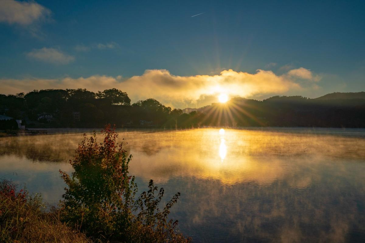 Interfaith Peace Conference - Fall sunrise over the water at Lake Junaluska