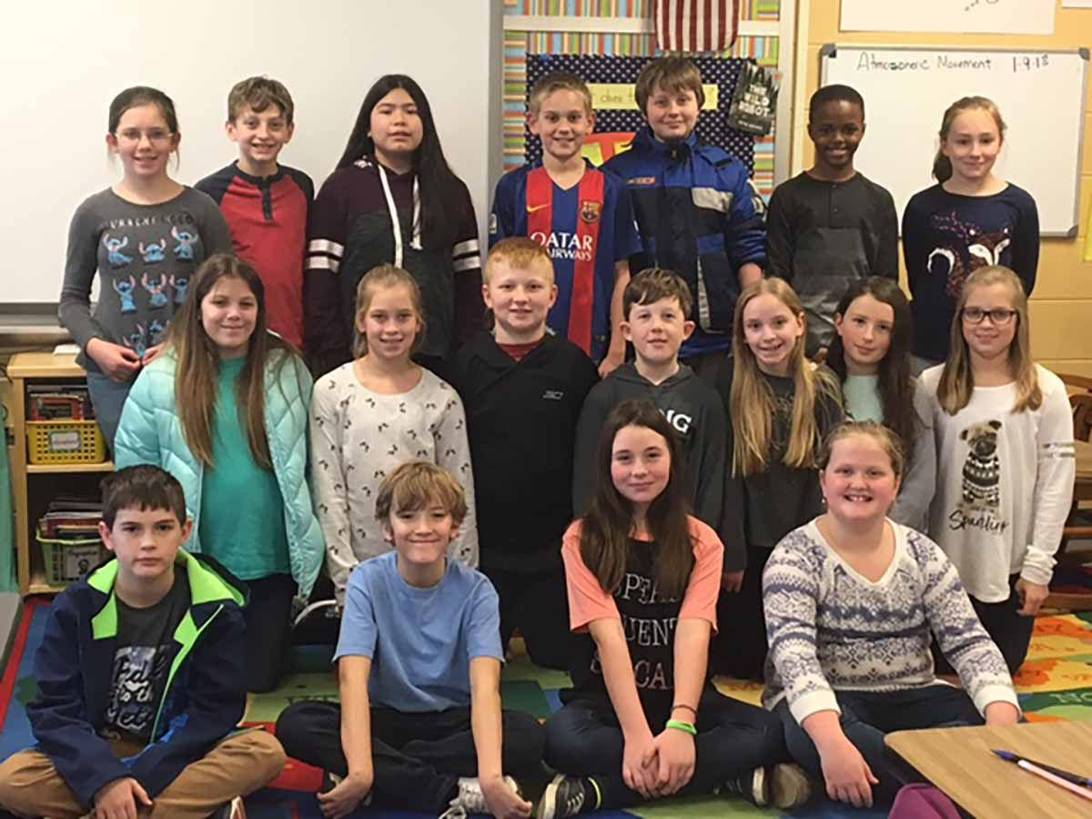 Meadowbrook 5th-grade Allyson Hutchby's class