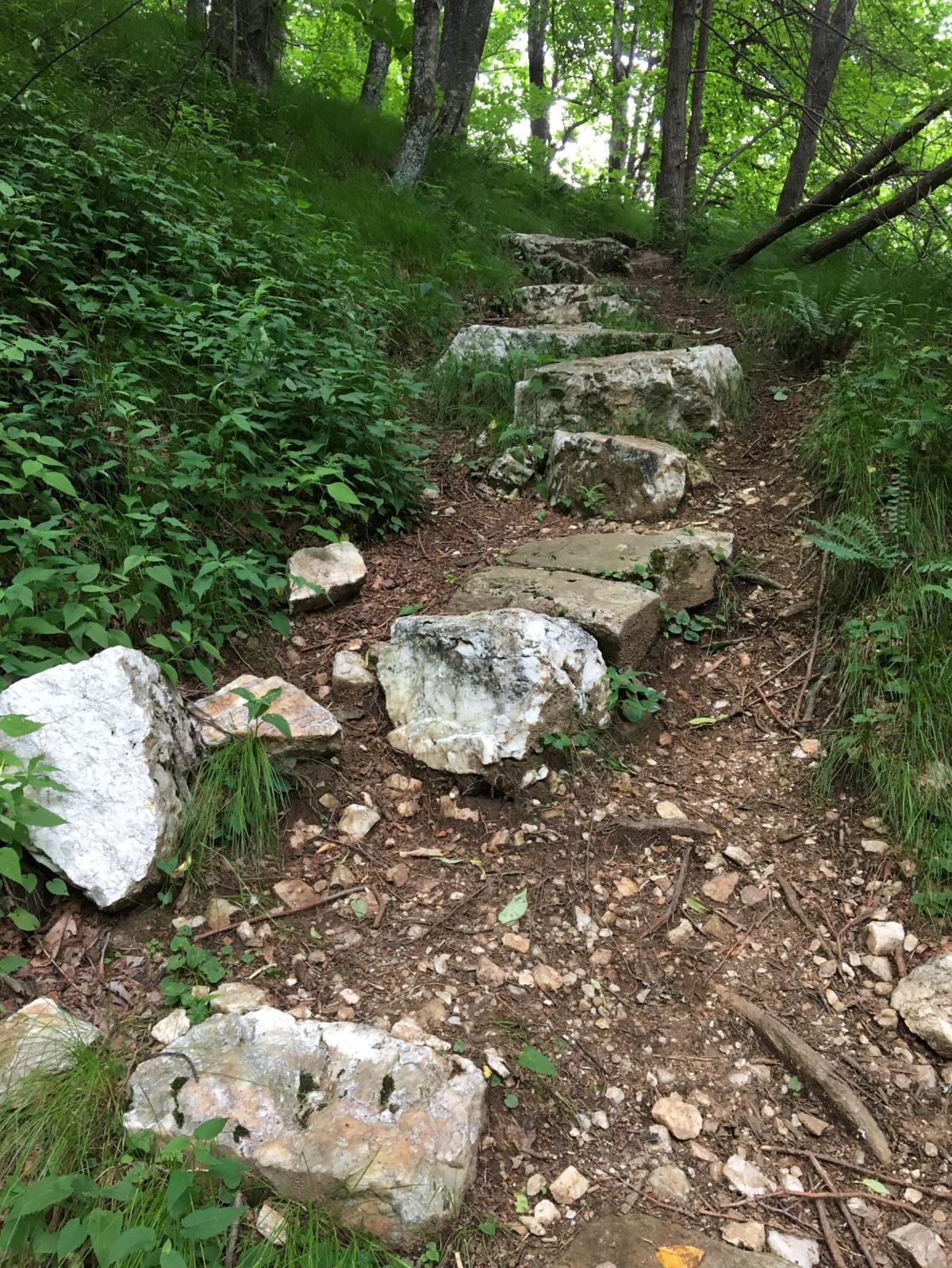 Mountains to Sea stone stairs