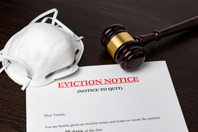 eviction notice and gavel