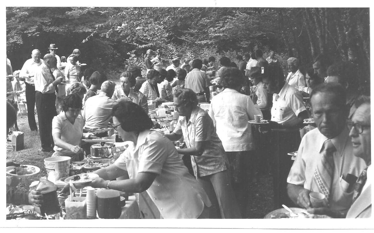 cataloochee reunion dinner on the grounds 1976.jpg
