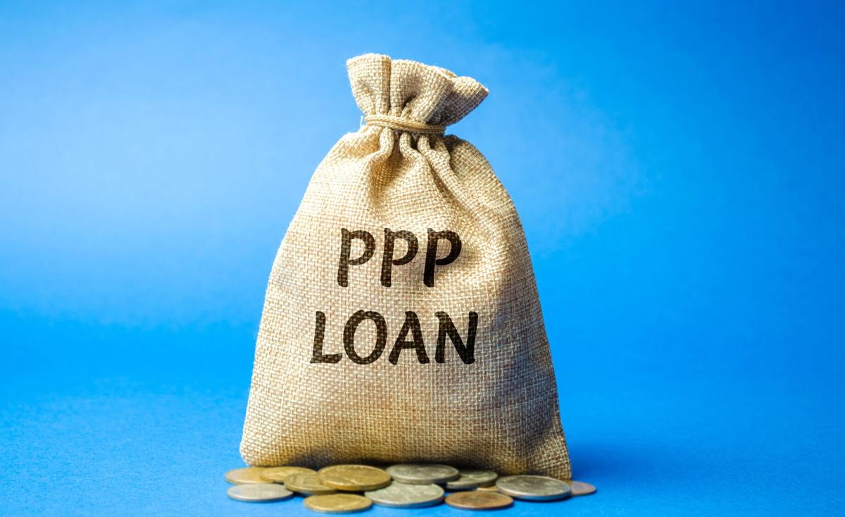 PPP loan money bag