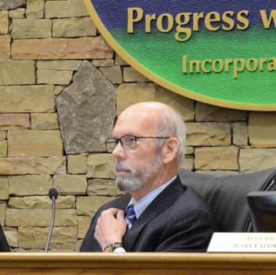 Waynesville Mayor Gavin Brown with town crest