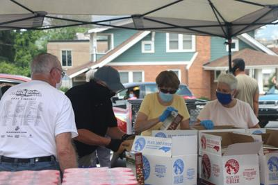 Canton First Baptist food distribution event
