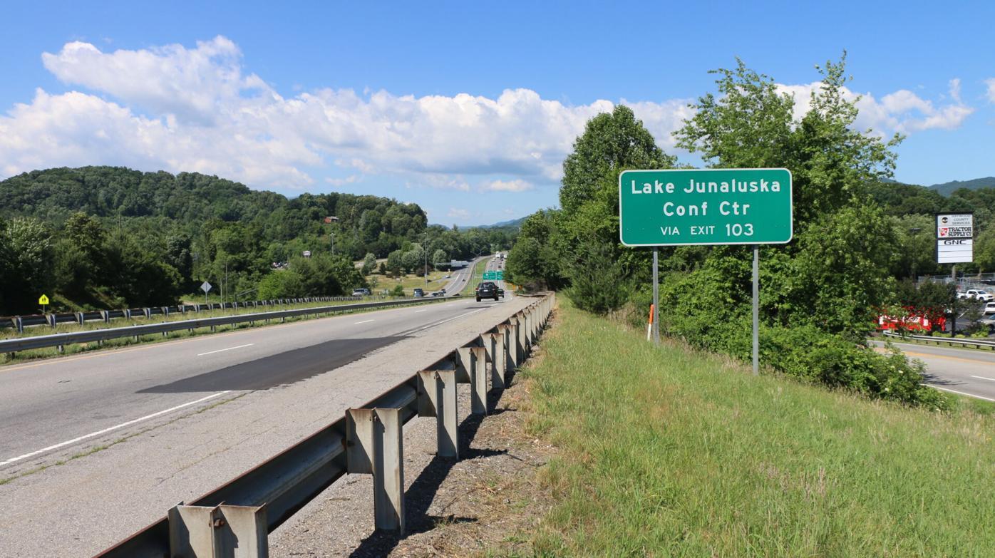 Lake Junaluska Highway sign