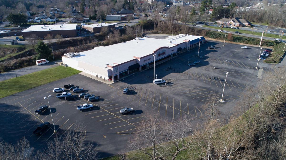 Aerial view of Bi-Lo shopping center
