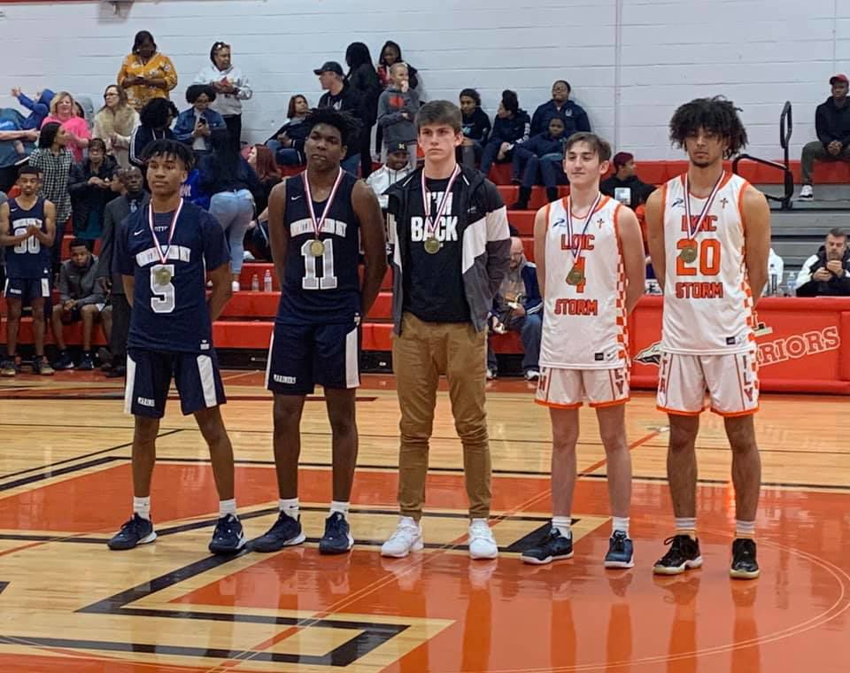 Red Wolf, Joel Page (center), made the CSAA All-State Tournament Team.jpg