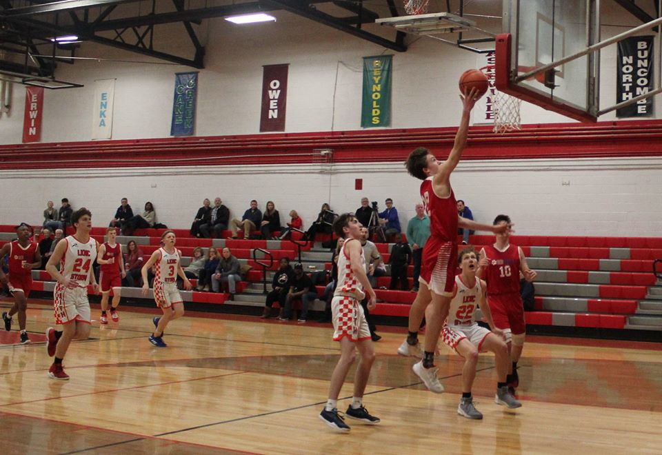 Matthew Haynes, #22, scores a layup in the CSAA Final Four State Championship Game.jpg