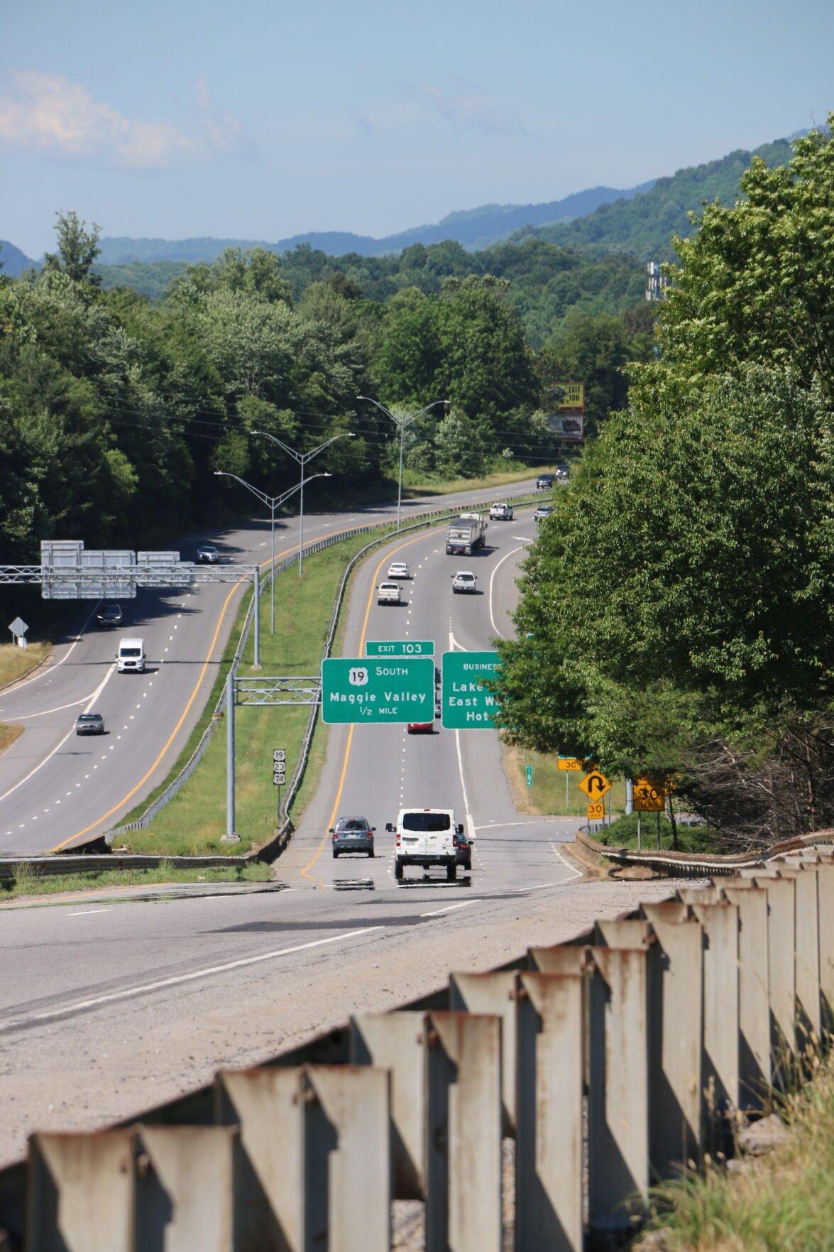 Maggie Valley Highway sign 2