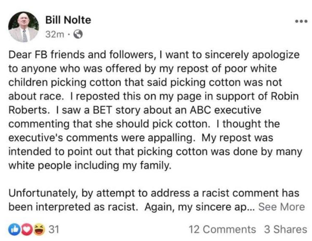 Nolte apology