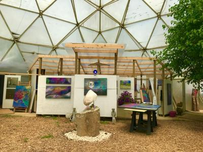 Artist Nina Howard's studio