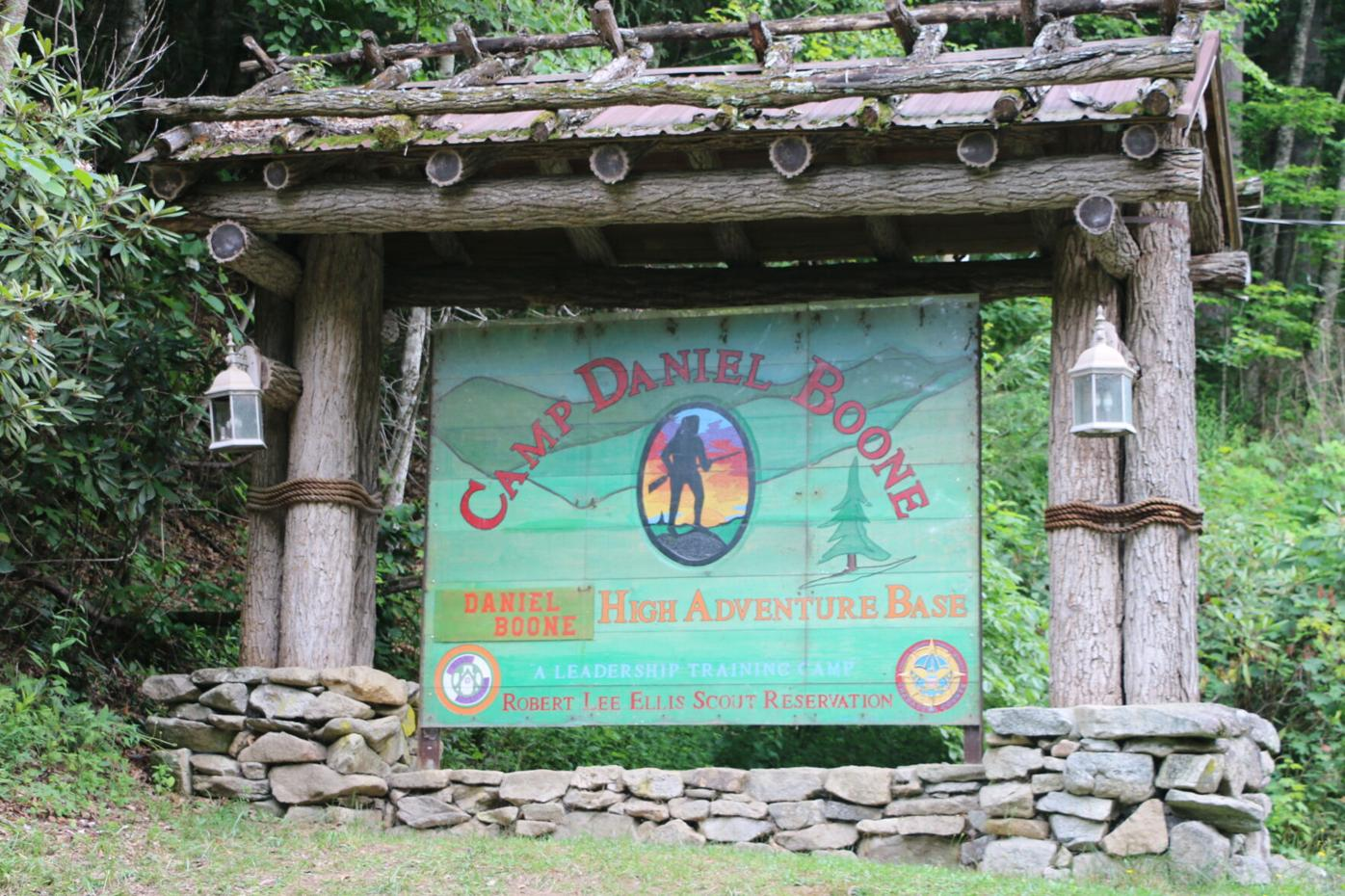 Camp Daniel Boone sign