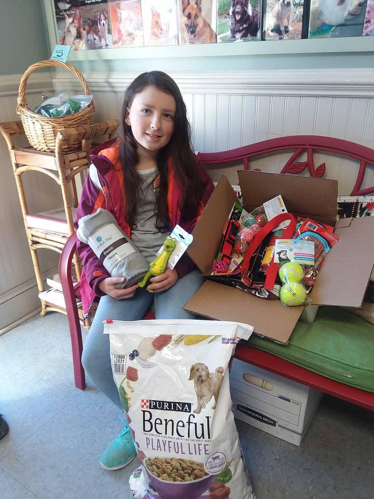 Meadowbrook 5th-grader Hanna Gibson at Sarge's